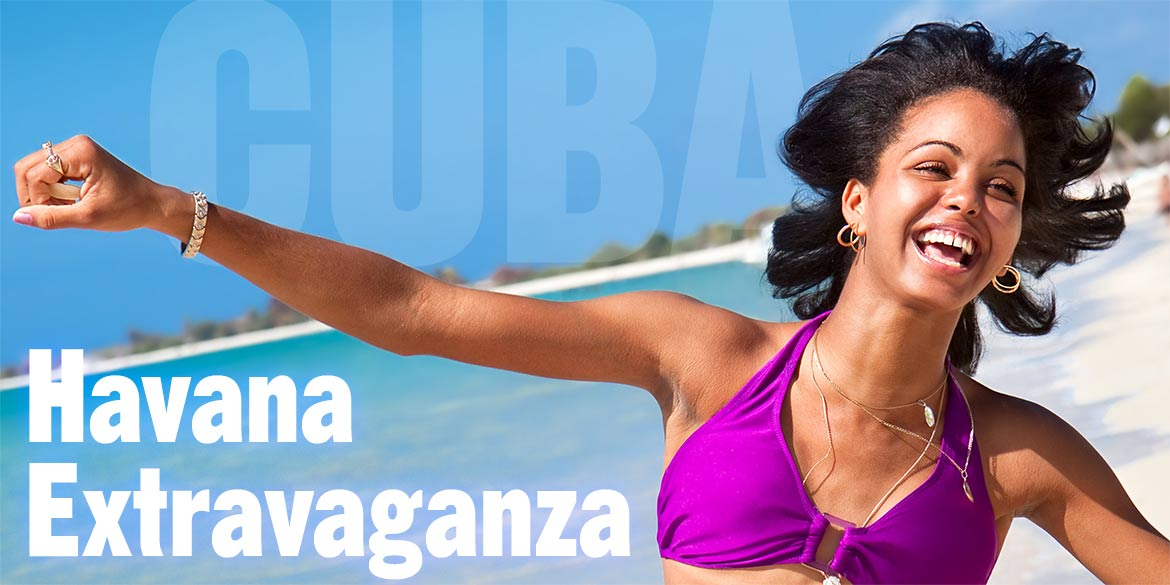Cuban woman running on beach.